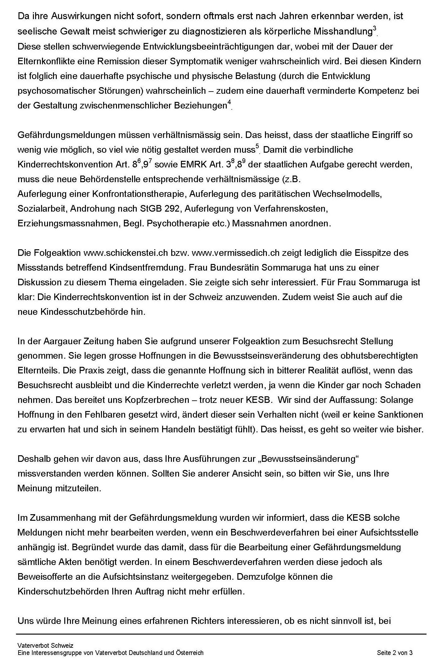 Anfrage Guido Marbet Gefährdungsmeldung S2